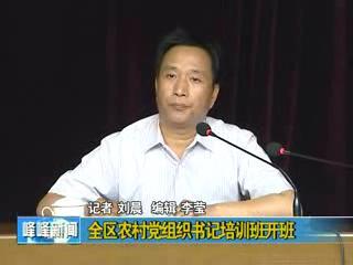 全区农村党组织书记培训班开班