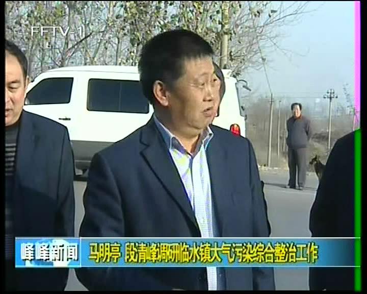 马明亭 段清峰调研临水镇大气污染综合整治工作