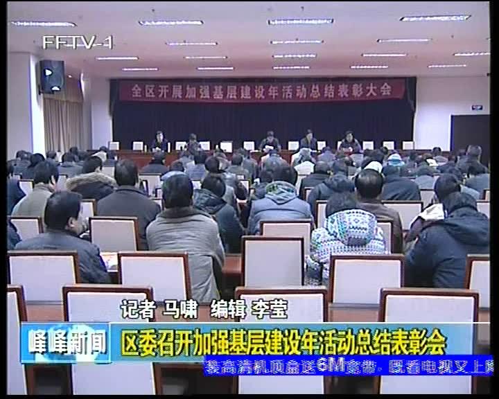 区委召开加强建设年活动总结表彰会