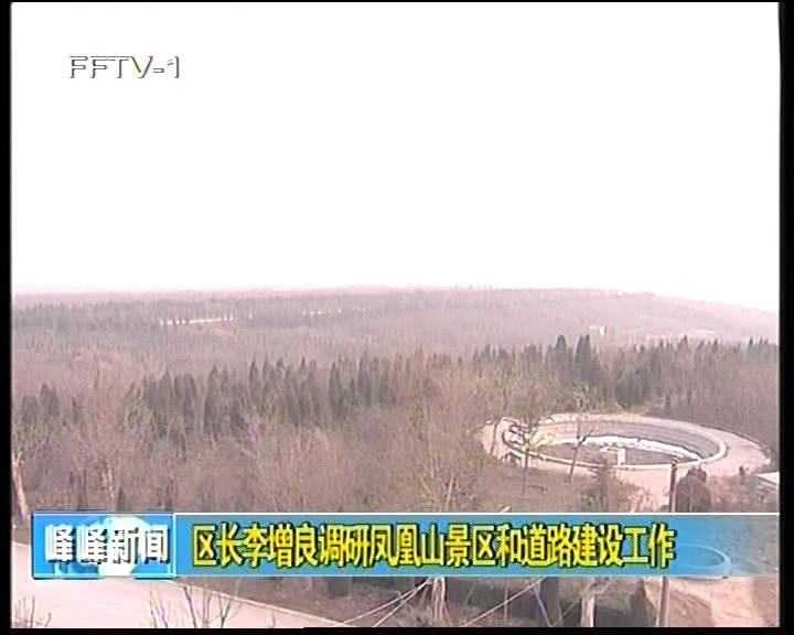 区长李增良调研凤凰山景区和道路建设工作