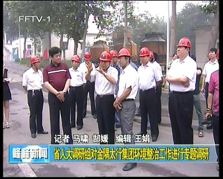 省人大调研组对金隅太行集团环境整治工作进行专题调研