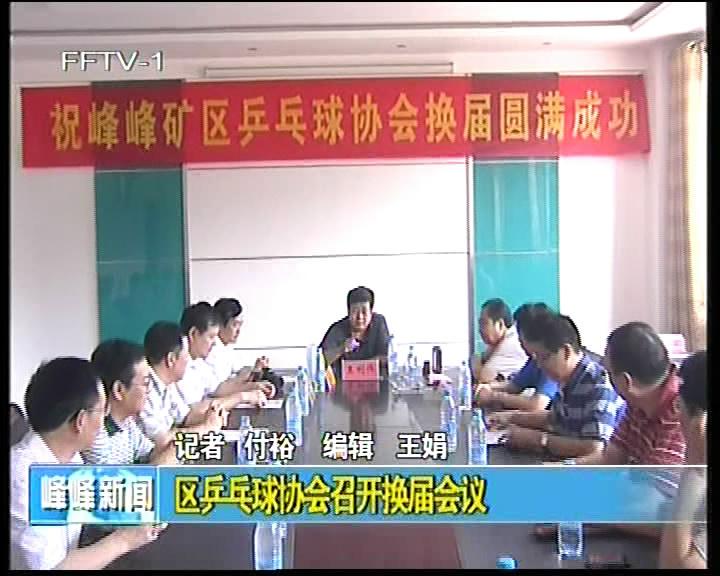区乒乓球协会召开换届会议