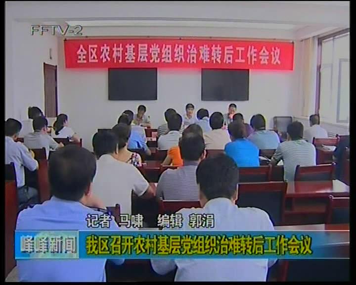 我区召开农村基层党组织治难转后工作会议