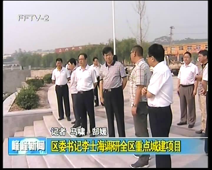 区委书记李士海调研全区重点城建项目