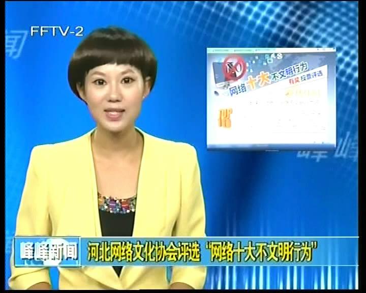 """河北网络文化协会评选""""网络十大不文明行为"""""""
