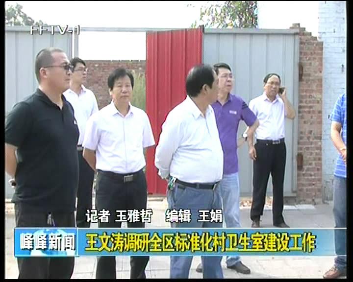 王文涛调研全区标准化村卫生室建设工作