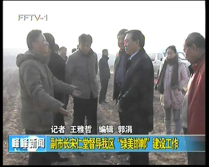 """副市长宋仁堂督导我区""""绿美邯郸""""建设工作"""