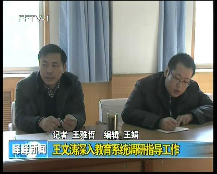 王文涛深入教育系统调研指导工作